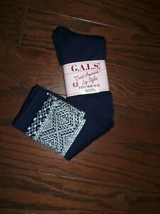 NWT G.A.L.S. NAVY THICK WOOL BLEND BOOT SOCKS: 9-11
