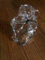 French Art Vannes Crystal Monkey Pipe rest Holder Ashtray Dish cigar glass
