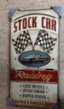 STOCK CAR RACING MIRROR SIGN FEATURING THE 00 FORD GALAXIE FRAMED NEW