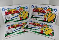 "Set Of 4! - Original 1989 Nintendo PVC Placemats 12"" x 18"" Legend of Zelda EUC!"