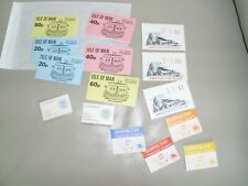 Booklets,collection,I.O.M.& Gibraltar.mint.see scans.