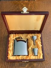6 Oz Flask, Funnel, And Shot Glass Gift Set In Wooden Display Box Shanghai China