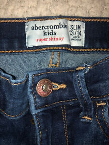 Girls Jeans Size 13/14 Slim Abercrombie & Fitch