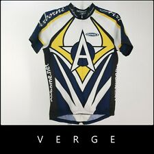 Verge Sport Blue Zip Colorful Print Multicolor Cycling Jersey Top Size 2XL #1