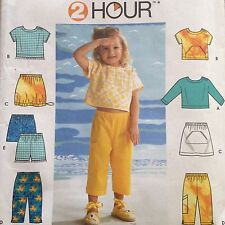 Simplicity 9186 Girls Top Skirt Pants Shorts Uncut Size 5 to 8 Pattern Play