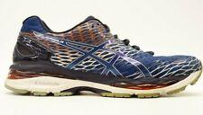 Asics Gel Nimbus 18 Mens Navy Athletic Running Training Shoes US 9 EU 42.5