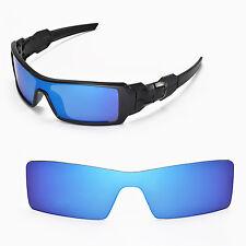 New Walleva Ice Blue Lenses For Oakley Oil Rig Sunglasses