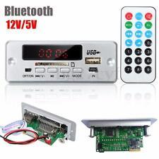 DC 12V/5V LED Car Bluetooth MP3 Decode Board Module HIFI Amplifier Audio FM USB