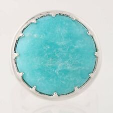 NEW Yours by Loren Amazonite Ring - Sterling Silver Cocktail Size 9