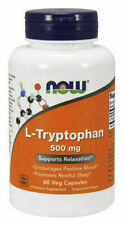 Now Foods L-Tryptophan 500 mg - 60 Veg Capsules, 5-HTP New Mood
