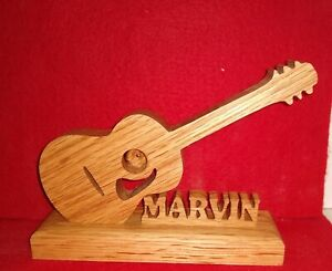 Handcrafted Personalized Guitar Silhouette with your name FREE SHIPPING