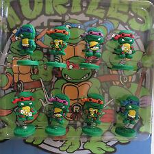 "Ninja Turtles Teenage Mutant Birthday Cake Topper (Set Of 8pc) 1/4"" X 1-1/2"""