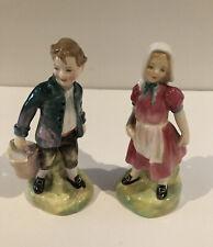 Vintage ~ Royal Doulton Figurines Jack~ Hn 2060 & Jill~ Hn 2061 Cute Set !