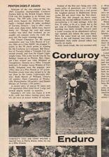 1965 Corduroy Enduro / John Penton Motorcycle Race - 1-Page Vintage Article