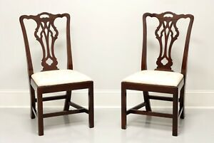 STATTON Old Towne Cherry Chippendale Dining Side Chairs - Pair C