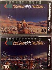 "Australian Phonecards 1993 ""Australian Christmas"" Series-Set Of 2- Mint And RARE"