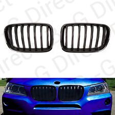 BMW X3 Gloss Black Front Kidney Grille F25 2011 - 2014