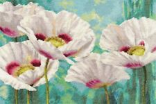 "Counted Cross Stitch Kit ALISA - ""White Poppies"""