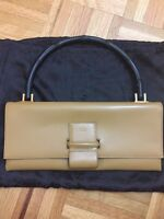 Authentic Gucci Bamboo Top-Handle Leather Bag Made In Italy
