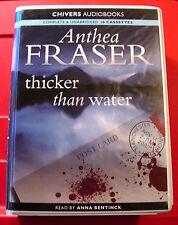 Anthea Fraser Thicker Than Water 10-Tape UNABRIDGED Audio Book Anna Bentinck