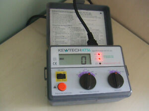 Untested - Kewtech KT56 Digital RCD Tester with DC Test