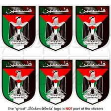 Palestine Écusson État Palestinien, 40mm Vinyl Sticker, Autocollant x6
