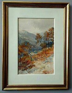 Albert Stevens 1872 - 1902 Watercolor - Near Menton (Southern France)