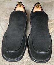 SHELLEY'S  SUEDE LOAFER LEATHER SHOES BLACK UK 6