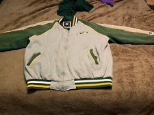 Vintage NFL Green Bay Packers Men's Winter Zip Lined Sweat Coat Jacket 2XL