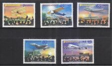 SINGAPORE 2011 100 YEARS OF AVIATION IN SINGAPORE COMP. SET OF 5 STAMPS IN MINT