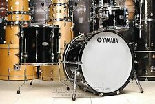 Yamaha Recording Custom 3pc Rock Drum Set Solid Black - Video Demo