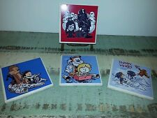 Calvin and Hobbes coasters,  Star Wars coasters,  calvin and hobbes art, coaster
