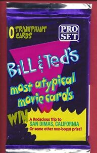1991 Pro Set Bill and Ted's Excellent Adventure Trading Cards single Wax Pack