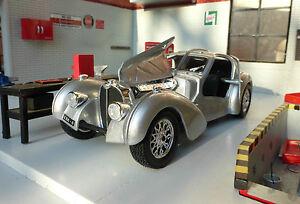 1:24 Bugatti Atlantique 1936 Détaillé Burago Miniature LGB G Echelle ♥ Voiture