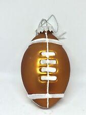 New Football Glass Christmas Tree  Ornament Holiday Decor Brown
