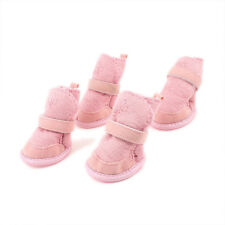 Pink Nonslip Sole  Booties Pug Dog Chihuahua Shoes Boots 2 Pair XXS V4I6