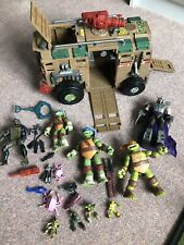 Teenage Mutant Ninja Turtles Shellraiser Vehicle Figures And Accessories Bundle
