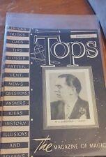 Vintage Abbott's Tops The Magazine Of Magic W.C. Dornfield Dorney Chicago 1946