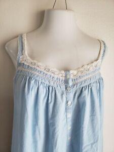 "Secret Treasures Woman Plus Sz 3XL Blue check Sleepwear Nightgown bust 50"""