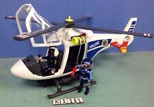 (K111) playmobil Hélicoptère police avec projecteur de recherche ref 6874