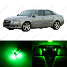 19 x Green LED Interior Light Package For 2002 - 2008 Audi A4 S4 B6 Sedan Only