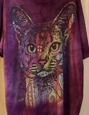 The Mountain Abyssinian Cat Tie Dye Dean Russo Artist T-Shirt Mens Womens Large