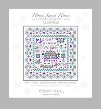 HOME SWEET HOME COUNTED CROSS STITCH KIT SAMPLER KIT RIVERDRIFT HOUSE