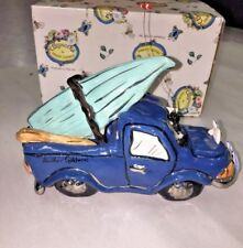 Heather Goldminc Blue Sky Clayworks Gone Fishing Pickup Truck Bears Boat Fish