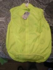 Brand New Womens Yellow Endura Pakagilet Sport Wind Cycling Vest, Size XL