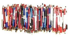 100 Bulk Lot Wholesale Misprint Ball Point Retractable Click Pens FREE SHIP