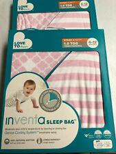 2 Pack Love To Dream Inventa Cott. Sleep Bag, 1 Tog, Pink, 4-12 Months