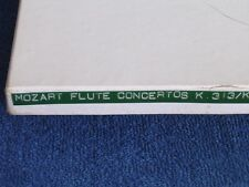 E Shaffer/Mozart Flute Concertos/In-House Use Only EMI Stereosonic 2 Track Tape