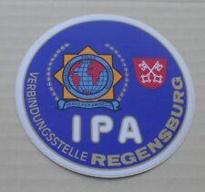 Aufkleber Sticker International Police Association IPA Polizei Regensburg