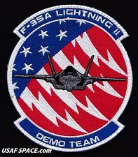 USAF F-35 Lightning II DEMO TEAM - Luke AFB, AZ - AIR FORCE PATCH